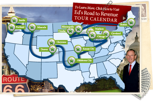 Ed Poll's Road to Revenue Tour Map